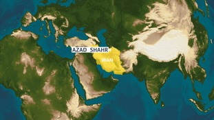 Azad Shahr is in the north of the country.
