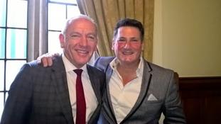 Tony Hadley along with London Midland's managing director, Patrick Verwer.