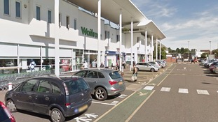 Waitrose car park at Kingsthorpe in Northampton