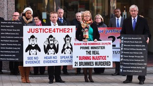 Campaigners from the Justice4the21 campaign