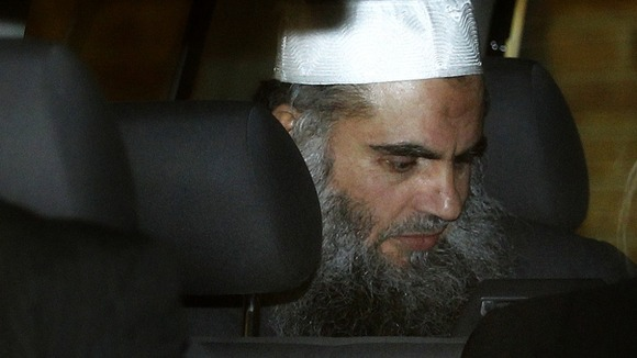 Abu Qatada leaving the Special Appeals Court in April