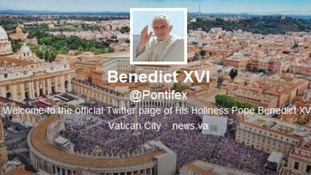 The Pope's Twitter page