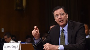 James Comey gives evidence to the Senate Judiciary Committee.