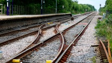 A person was hit by a train between Felixstowe and Derby Road stations.