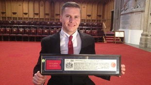 David Weir accepting the Freedom of the City of London.
