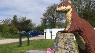 Lottie the Otter is part of the animal trail made of LEGO bricks - the first of its kind in Scotland