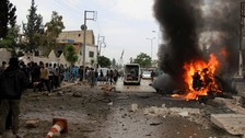 An explosion in the town of Azaz killed and wounded several on Wednesday.