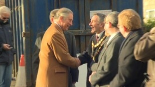 Prince Charles is welcomed at St Asaph