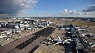 Counter-terror police arrested the man when he landed at Heathrow.