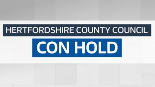 The Conservatives have secured an overall majority in Hertfordshire.