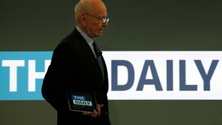 News Corp CEO Rupert Murdoch launched the iPad publication 'The Daily' in New York in February 2011