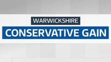 The Tories have gained overall control of Warwickshire County Council.