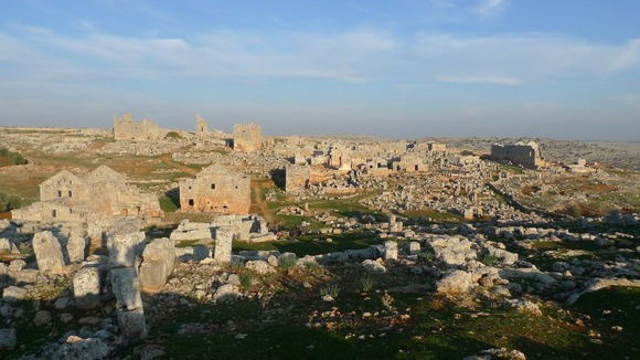 Sergilla, the ancient Roman ruins, now home to desperate Syrian refugees