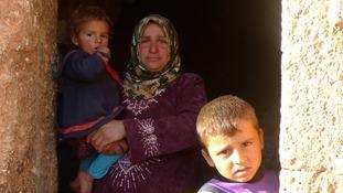 Families in Sergilla, Syria