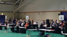 Votes are being counted with a result expected around midday.