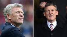 Head coach David Moyes and Club Chairman Ellis Short
