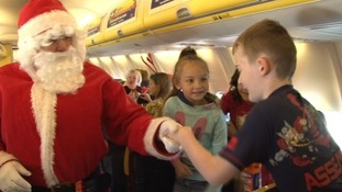 In Pictures: Children take to skies to find Santa