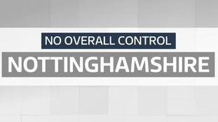Local council elections: Nottinghamshire - No overall control