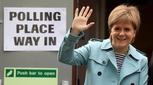 Nicola Sturgeon praised the SNP's local election results.