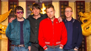 Pre-political life: Dave Rowntree (far right) in his time in Blur.