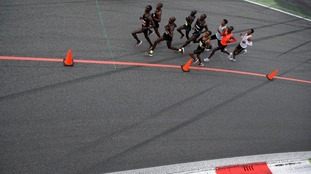 Eliud Kipchoge's rapid run will not be recorded in the record books because he was aided by in-out pacemakers.