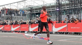 Olympic champion falls 26 secs short in sub two-hour marathon bid