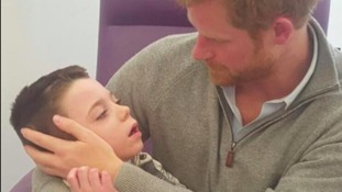 Prince Harry's reunited with a terminally ill boy