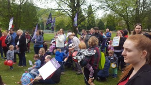 Parents and nursery workers protest to save University crèche