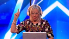 Christine Tew, 65, surprised the audience with her DJ set