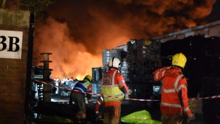 Residents evacuated as fire blazes on industrial estate