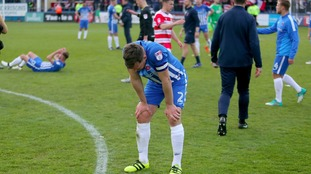 Hartlepool's Carl lsgnay as Pools are relegated