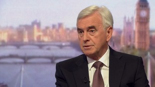 John McDonnell appeared on the Andrew Marr Show on Sunday.