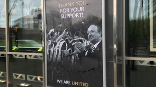 Poster outside St James' Park
