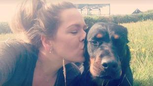 Jasmine Smith and her dog Boe