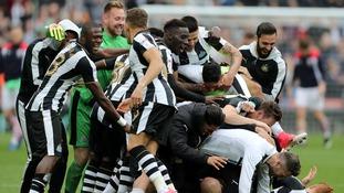 Newcastle win Championship as Blackburn go down