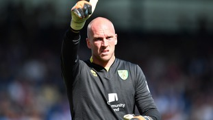 Goalkeeper John Ruddy, who was captain for the day as Norwich beat QPR 4-0.