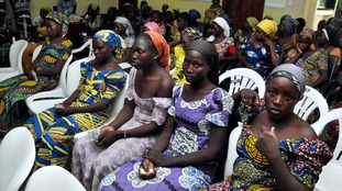 Freed Chibok girls meet Nigerian president after release from Boko Haram
