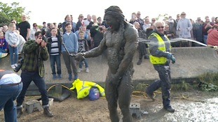 Some of those taking part were so filthy, they needed hosing down once they'd crossed the finish line.