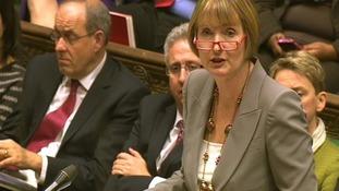 Shadow Culture Secretary Harriet Harman addresses the commons