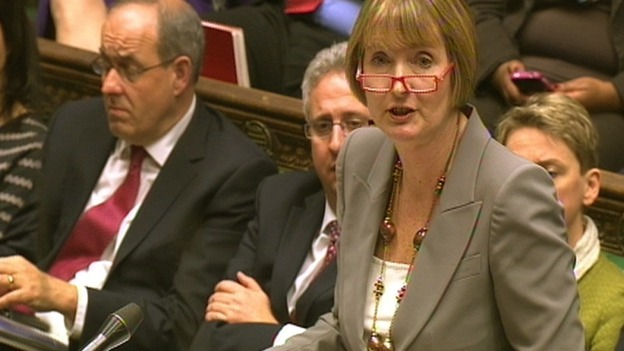 Shadow Culture Secretary Harriet Harman addresses the commons 