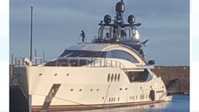 The yacht berthed in Whitehaven