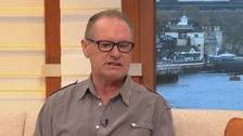 Paul Gascoigne appearing on Good Morning Britain.