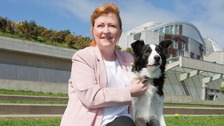 Emma Harper MSP and her four-year-old Border Collie, Maya