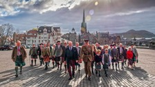 Clansmen and clanswomen marched to the Great Hall at Edinburgh Castle