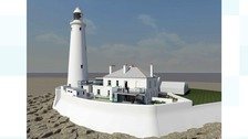 Artist's impression of how the revamped lighthouse could look
