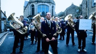Grimethorpe band play at 'Brassed Off' anniversary event