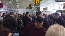 Passengers suffered long delays