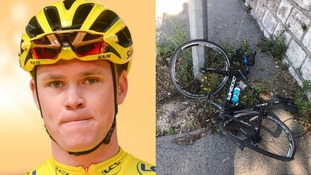 British cyclist Chris Froome 'rammed' on pavement by driver in France