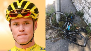 Chris Froome said he was 'rammed on purpose by an impatient driver'.