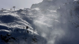 An avalanche in the French Alps (stock image)